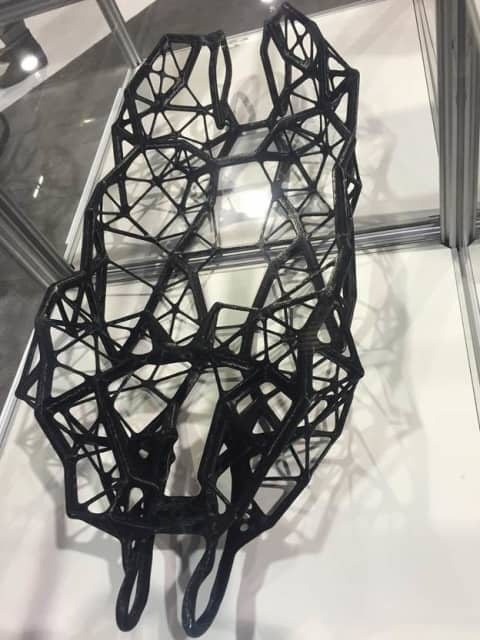Hack Rod created the world's first 3D printed automobile chassis designed using artificial intelligence. (3D printed by Fast Radius, designed by Hack Rod using Autodesk Dreamcatcher. Image courtesy of Rick Smith/Fast Radius.)