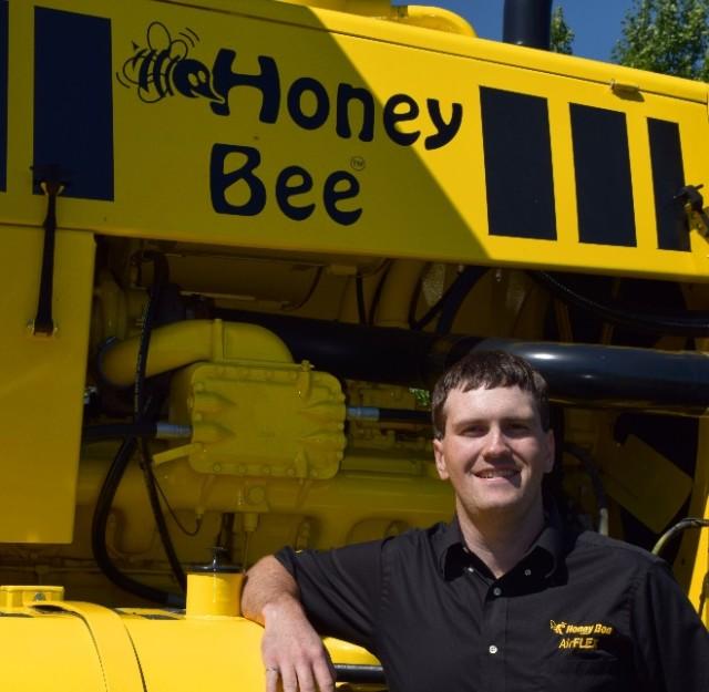 Joel Seerey, R&D engineer. (Image courtesy of Honey Bee Manufacturing.)