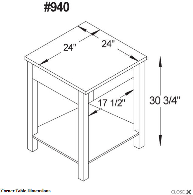 Figure 4. A sample of dimensioned office furniture. (Image courtesy of Ohio Hardwood Furniture.)