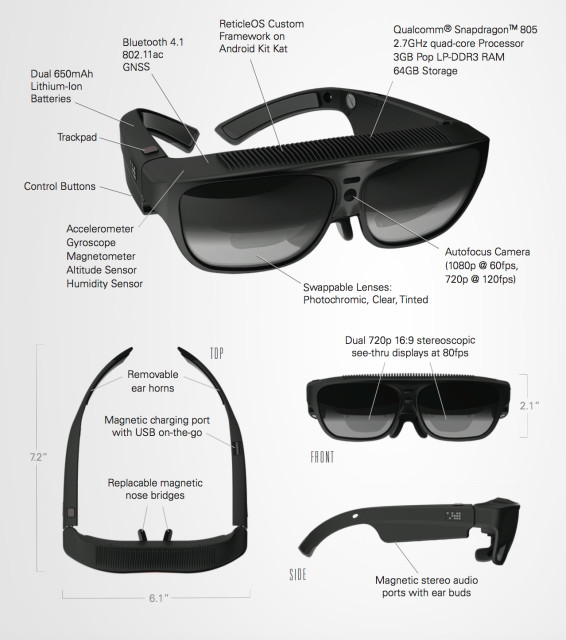 ODG R-7 Smartglasses. (Image courtesy of ODG.)