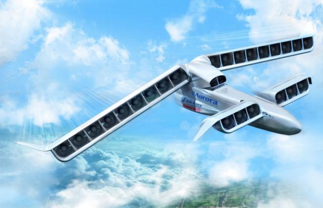 This artist's concept depicts the ultimate LightningStrike design. (Image courtesy of Aurora Flight Sciences.)