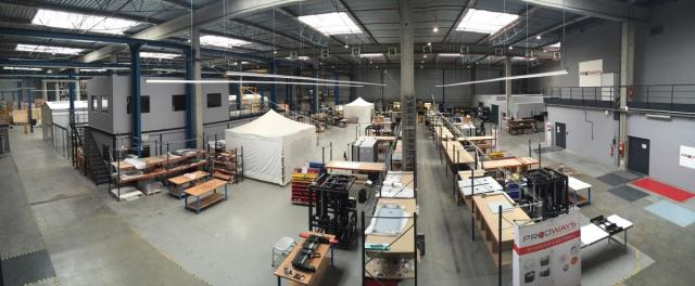 A view of the Prodways warehouse, where most of the 3D printers are built. (Image courtesy of the author.)