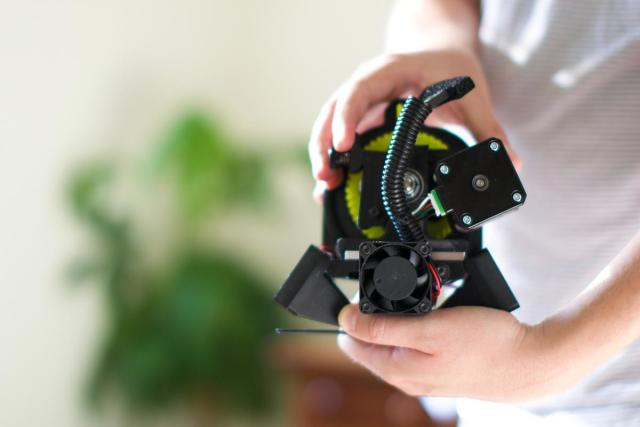 The extruder is shipped in a self-contained module. (Image courtesy of Volim Photo.)