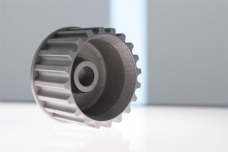 English Racing was able to manufacture this pulley with the ProX 300. (Image courtesy of 3D Systems.)