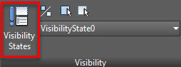 Figure 5. Visibility States option on the Visibility panel.