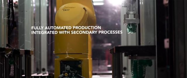 Post-processing steps are integrated into the platform for automated print finishing. (Image courtesy of 3D Systems/YouTube.)