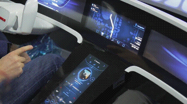 The IoT-connected autonomous vehicle shifts its route depending on one's schedule. (Image courtesy of EDAG/YouTube.)