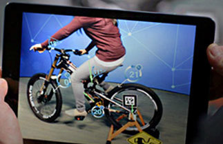 PTC AR utilizing Vuforia. (Image courtesy of PTC.)