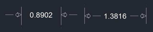 Figure 7. Dimensions with custom arrow.