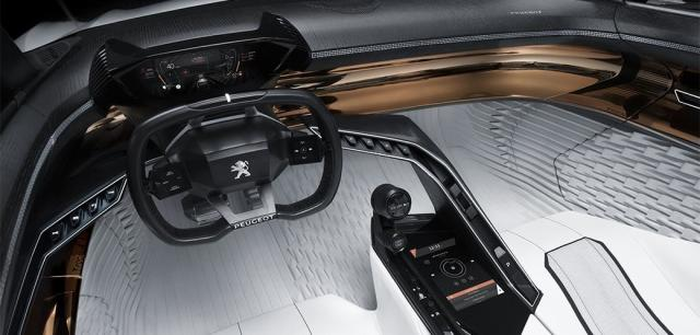 Inside the Peugeot FRACTAL Concept Car from PSA Group. Over 80 percent of the interior surface is 3D printed. (Image courtesy of Peugeot.)