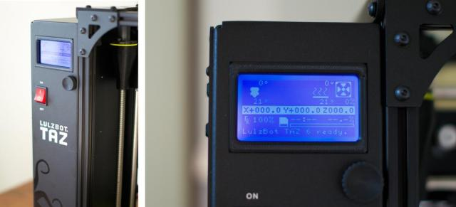 The LulzBot TAZ 6 has a built-in LCD screen with SD card reader for standalone printing. (Image courtesy of Volim Photo.)