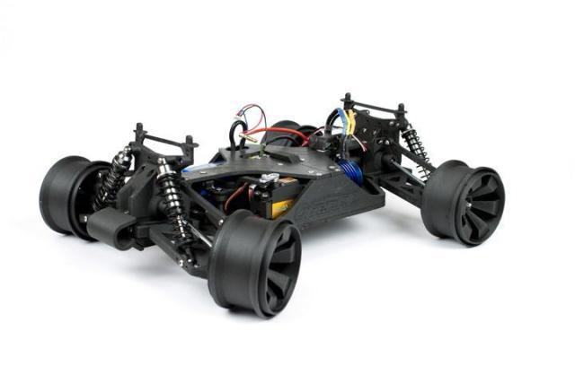An RC car 3D printed with XT-CF20. (Image courtesy of colorFabb.)