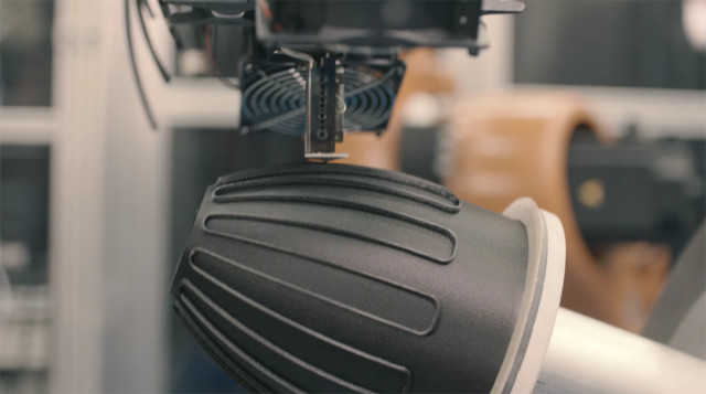 No support material is required, reducing the time and labor of printing and post-processing. (Image courtesy of Stratasys/YouTube.)