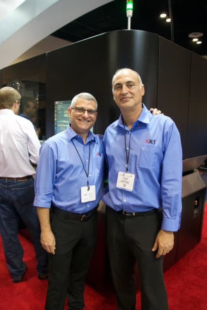 From left to right, XJet Marcom Manager Alon Ziv and Markets Development Manager Avi Cohen. (Image courtesy of the author.)