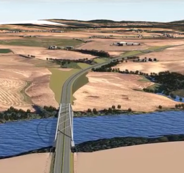 Danish firm COWI uses InfraWorks 360 to create 3D models of bridges and roadwaysthat include existing geographical conditions. (Image courtesy of Autodesk.)