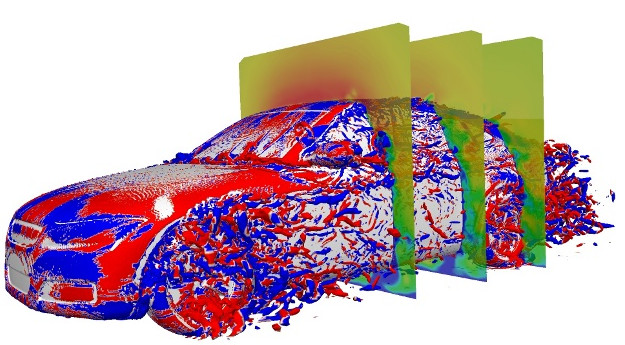 The SBES method has proven benchmarks with DrivAer, the generic car model, somewhat of a standard among aerodynamicists. (Image courtesy of CFD Online.)