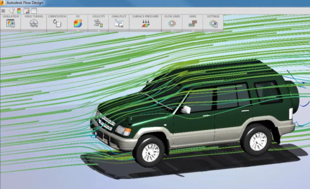 Autodesk Flow Design lets you simulate airflow—without having to learn how to use a complicated CFD program. (Image courtesy of Autodesk.)