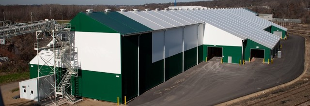 Believe it or not, this is a fabric building. (Image courtesy of Legacy Building Solutions.)