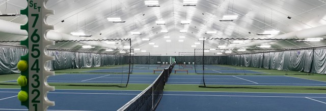 Athletic complex inside a fabric structure. (Image courtesy of Legacy Building Solutions.)