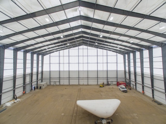 Inside a fabric aviation hanger. (Image courtesy of Legacy Building Solutions.)