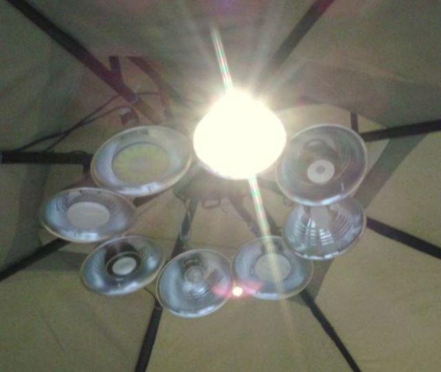 Inside the Light Tent