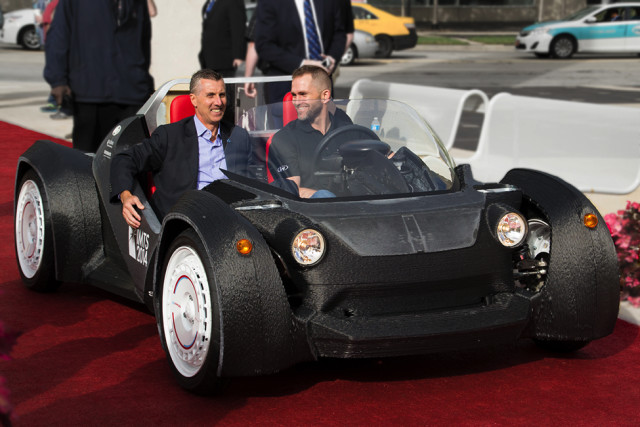 The 3D-printed Strati concept car, the Local Motors' first proof of concept. (Image courtesy of Volim Photo.)