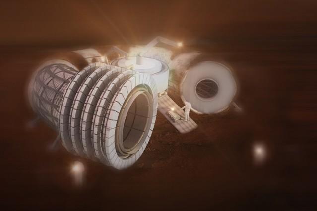 The MIT-designed Martian habitat. Image courtesy of MIT.