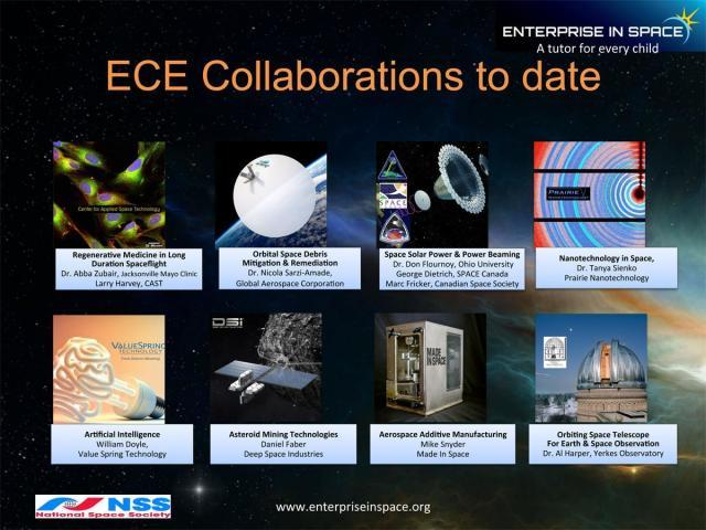 Eight of the projects that will serve as the basis for the Enterprise Centers for Excellence. (Image courtesy of EIS.)