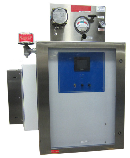 NEMA 4X (N4X) Stainless Steel Cabinet Continuous Gas Analyzer & Purge. (Image courtesy of Nova Analytical Systems.)