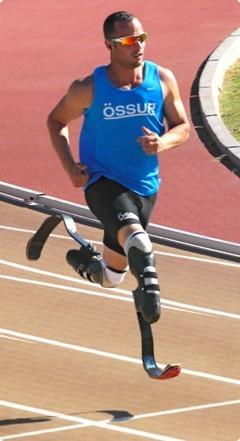 Blade runner on the track. (Image courtesy of Ossur.)
