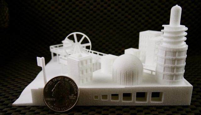 These complex geometries – including a moving Ferris wheel – were printed via Selective Laser Sintering (SLS) with no assembly whatsoever.