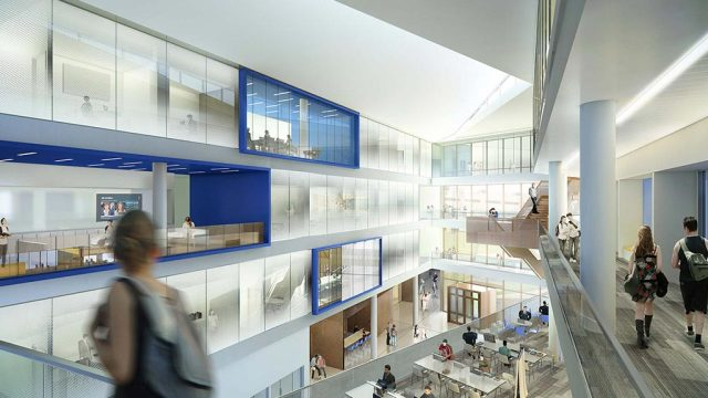 Offices and student areas are interspersed throughout the building. (Image courtesy of Gensler.)