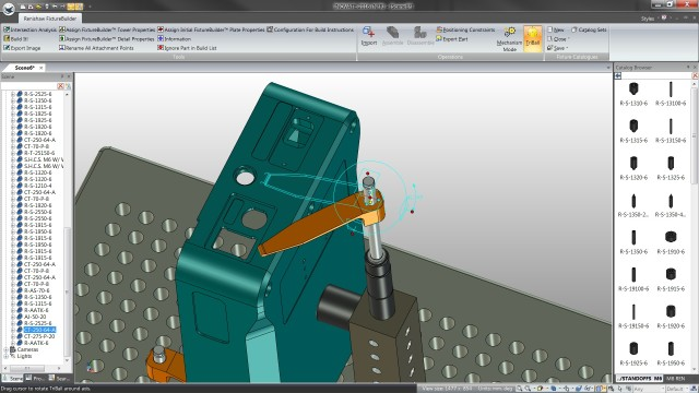 """The TriBall feature allows FixtureBuilder software users to move parts independently in the 3D work space."" (Image courtesy of Renishaw)."