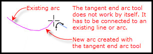 Figure 10. Creating a fillet arc.
