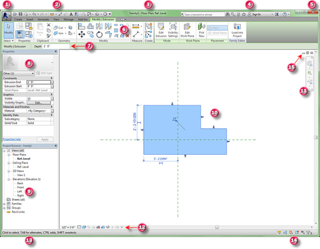 The Revit Family Editor User Interface > ENGINEERING com