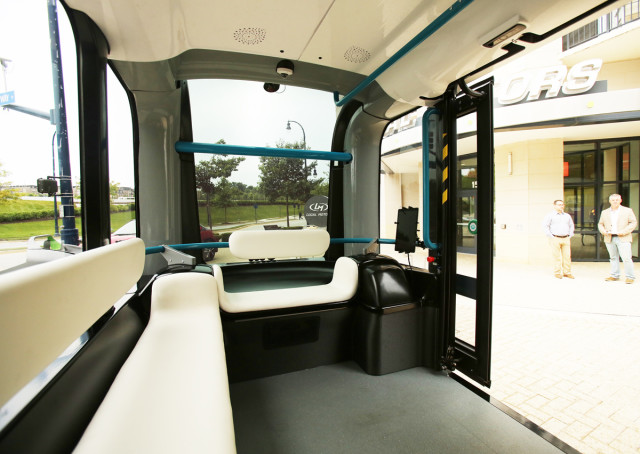 Much of Olli's interior is 3D-printed. (Image courtesy of Local Motors.)