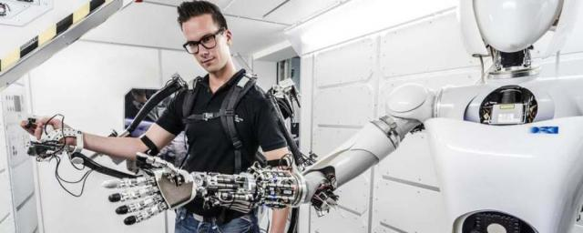 Telerobotics is the control of semi-autonomous robots from a distance, usually with dynamic control interfaces like exoskeletons. (Image courtesy of Óbuda University.)