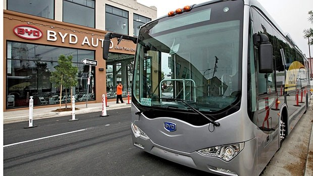 The City of Windsor has agreed to buy 10 electric buses from BYD. (Nick Ut/Associated Press)