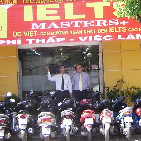 Online English Teacher Fred in front of IELTS college