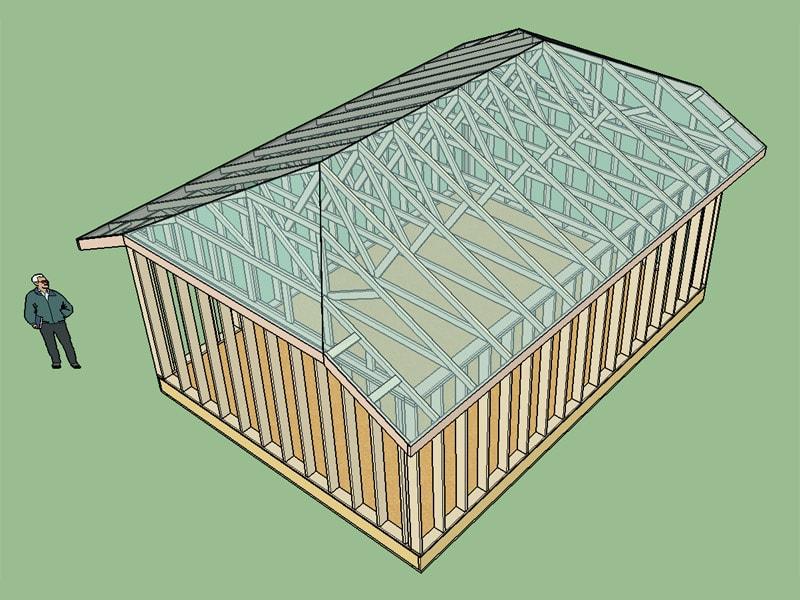 Half hip truss set truss engineering design fabrication for Jerkinhead roof construction