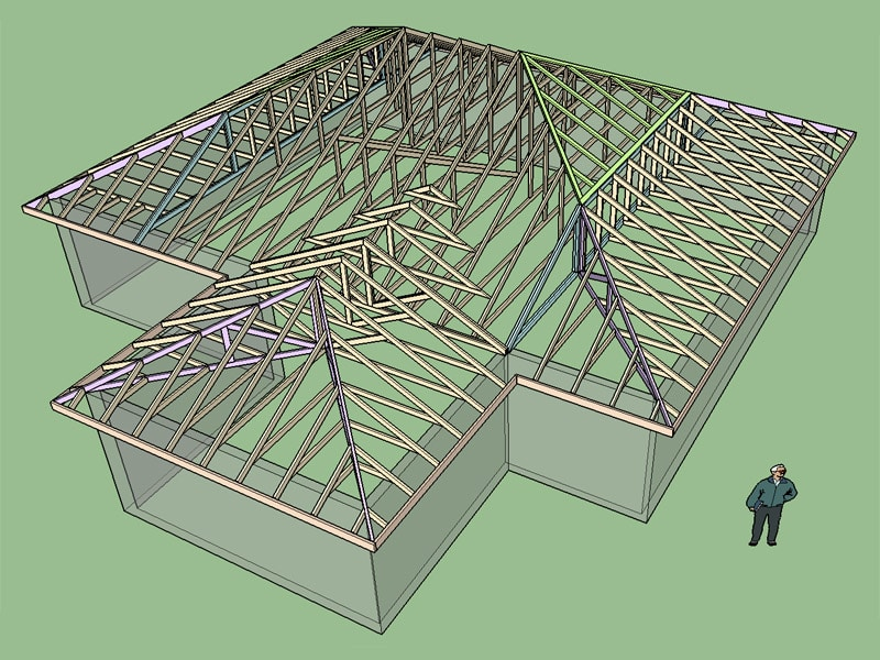 Half Hip Truss Set Truss Engineering Design Fabrication