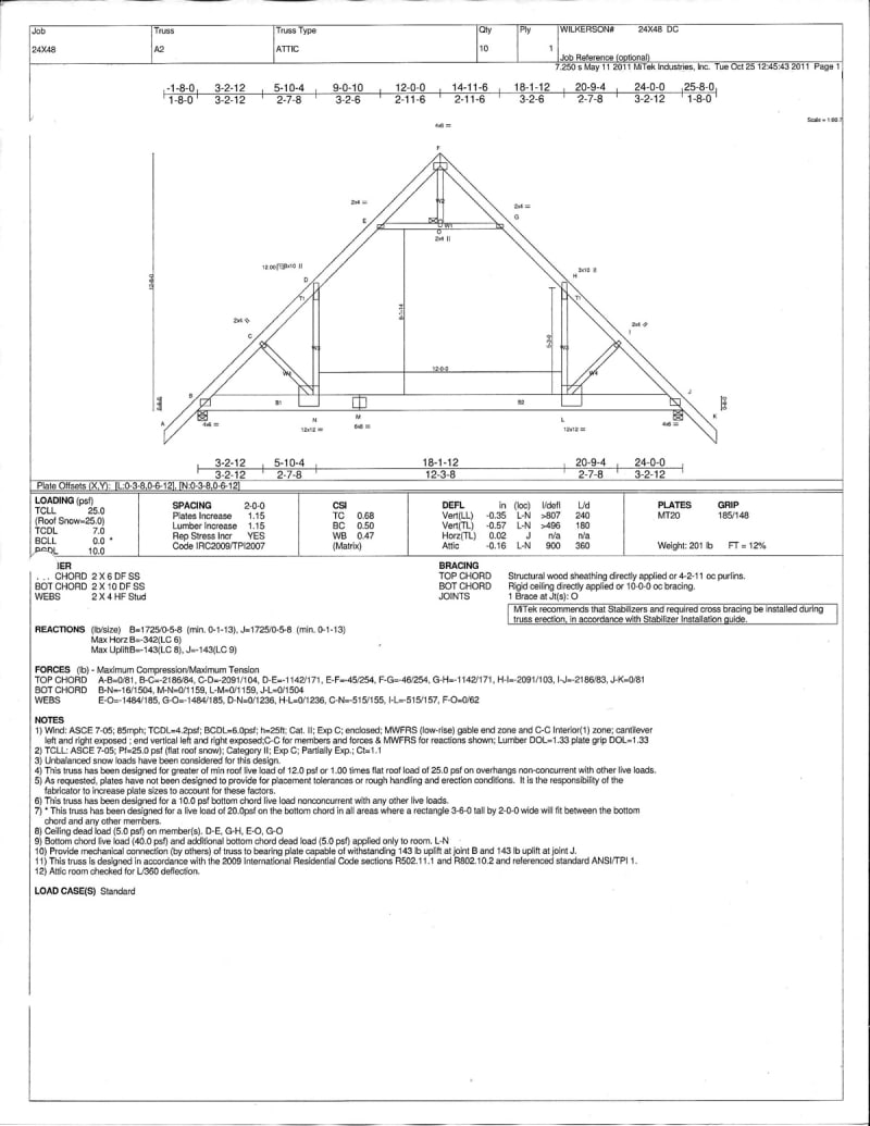 Attic Trusses Structural Engineering General Discussion Eng Tips