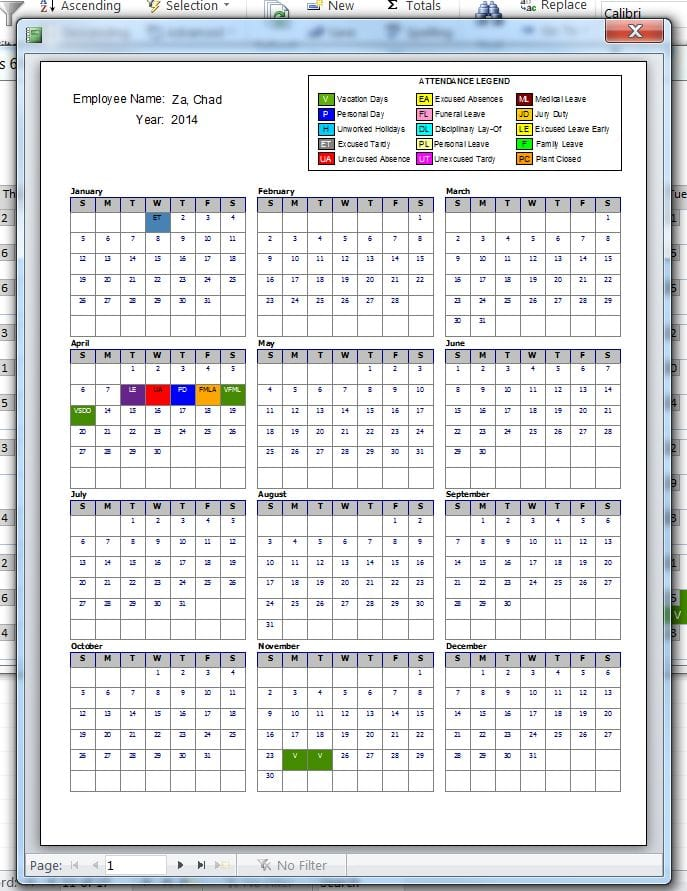 Yearly Calendar For Attendance Microsoft Access Forms Tek Tips