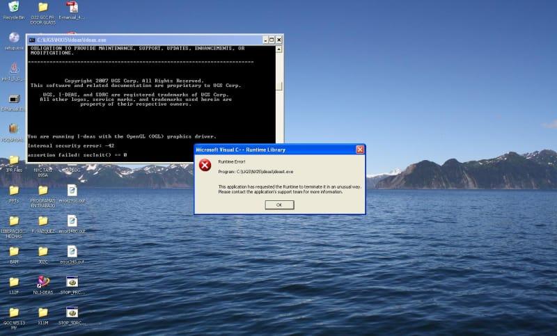 URGENT: IDEAS NX5: Internal Security Error 42 - Siemens: I-deas