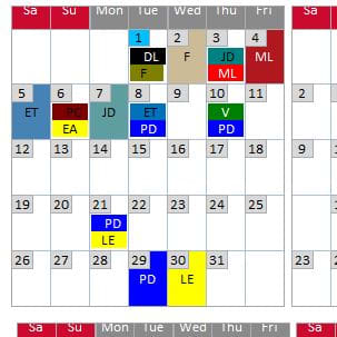 Yearly calendar for attendance - Microsoft: Access Forms