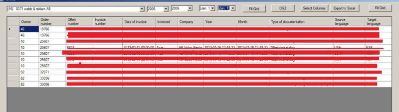 Copy Data table item to certain row and certain column  - Visual