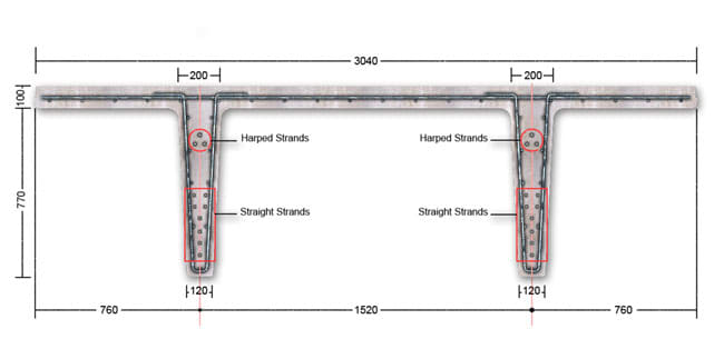 Concrete Pipe Tee : Pipe support requirements to precast concrete tees
