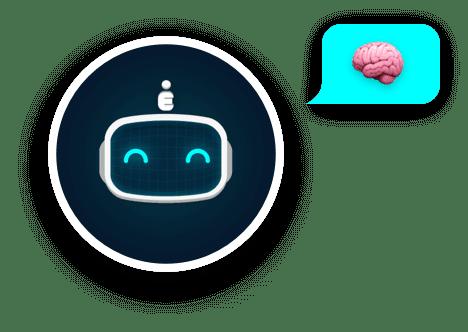 Bot Avatar Happy With Brain Bubble