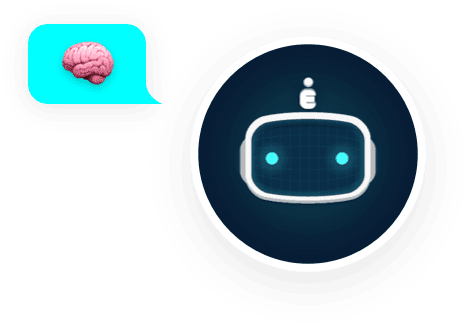 Bot Avatar With Brain Bubble