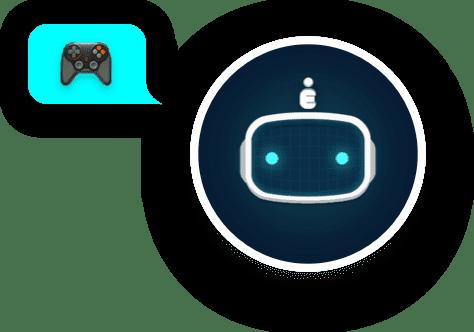 Bot Avatar With Joystick Bubble